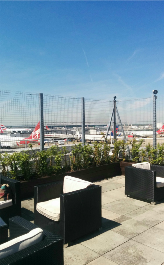 Vagueonthehow, Virgin Atlantic Clubhouse Roof Terrace via Flickr CC BY 2.0