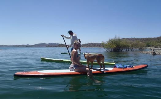 Paddle Boarding on Lake Pleasant