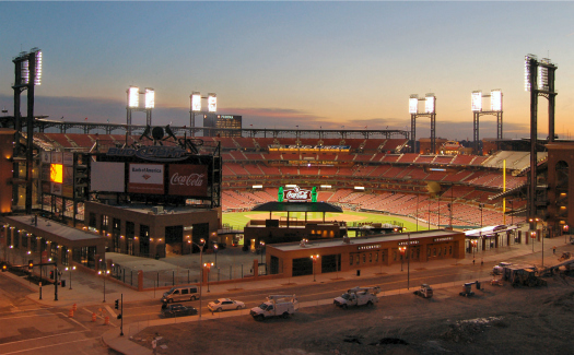 Catch the St. Louis Cardinals in action at Busch Stadium. (Image: Dave Herholz, Busch Stadium 007 via Flickr CC BY-SA 2.0)
