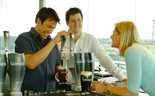 Pour a pint at the Guinness Storehouse in Dublin