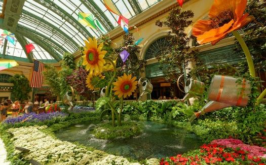 Daniel Ramirez, At Bellagio Conservatory via Flickr CC BY 2.0