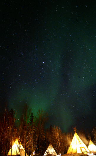 Northern Lights in Yellowknife, Northwest Territories