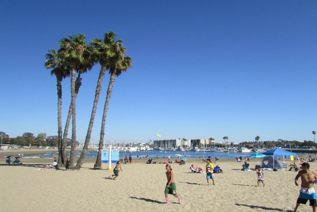 Beach near Los Angeles International Airport