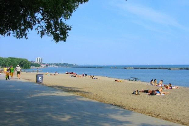 Beach near Toronto Pearson Airport