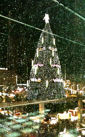 Christmas tree in Dortmund, Germany (Image: Achim Hepp used under a Creative Commons Attribution-ShareAlike license)