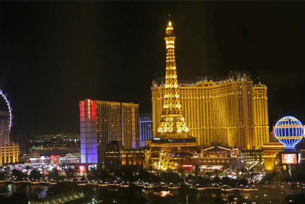 Eiffel Tower Experience, Las Vegas at night