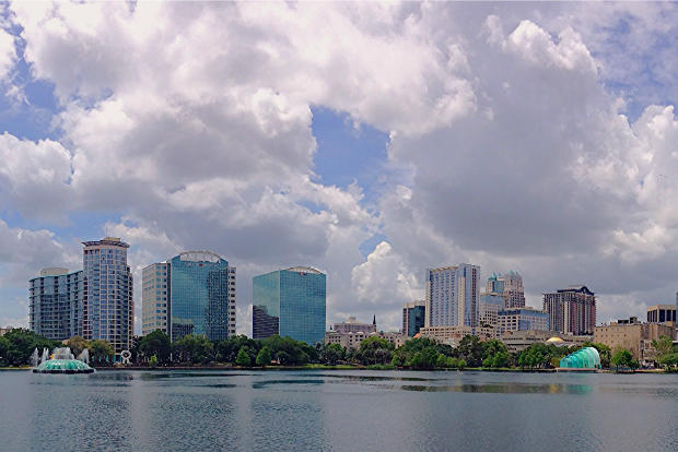 Downtown Orlando from the river