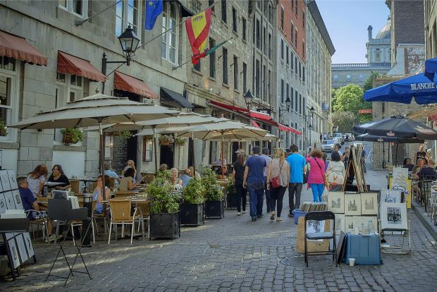 Montreal street scene