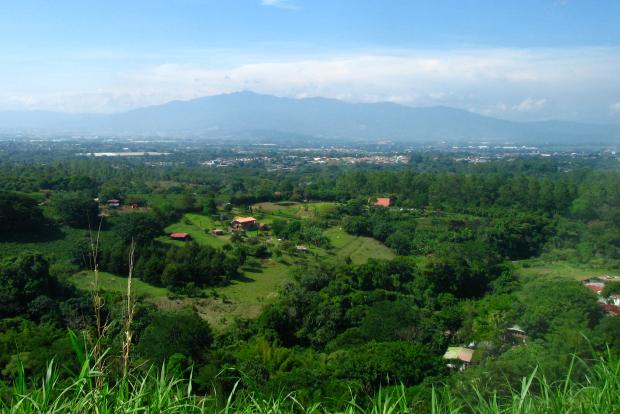 San Jose, Costa Rica in distance